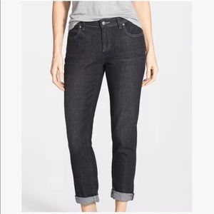 Eileen Fisher Charcoal Straight Leg Jeans Size 6P